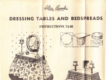 Image for (Pattern #7448) Dressing Tables and Bedspreads
