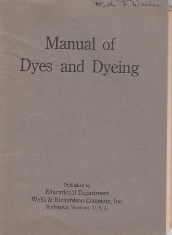 Image for Manual of Dyes and Dyeing