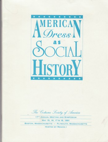 Image for American Dress as Social History 1991