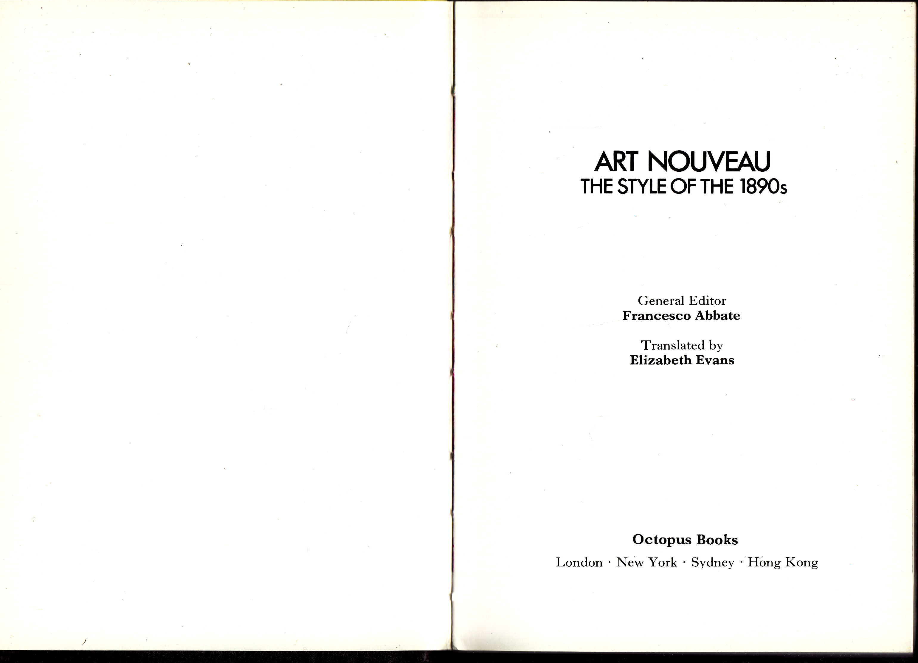 Image for Art Nouveau:  the style of the 1890's