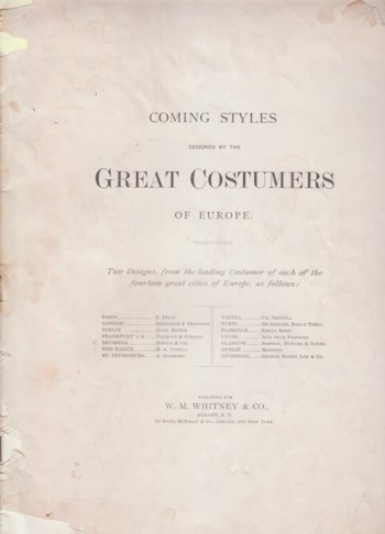 Image for Coming Styles designed by the Great Costumers of Europe