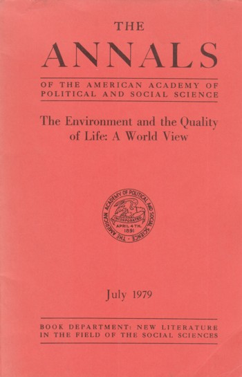 Image for Environment and the Quality of Life:  a world view