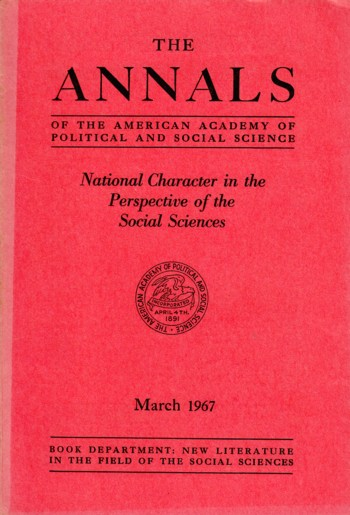 Image for National Character in the Perspective of the Social Sciences