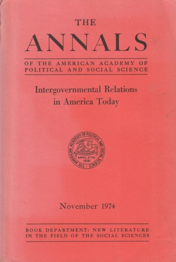 Image for Intergovernmental Relations in the United States