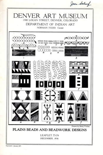 Image for Plains Beads and Beadwork Designs leaflet 73-74