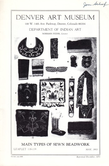 Image for Main Types of Sewn Beadwork Leaflet 118-119