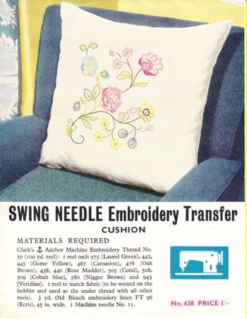 Image for (Transfer Pattern) (Machine) Swing Needle Embroidery Transfer Cushion