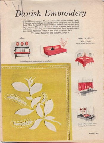 Image for (Excerpts) Danish Embroidery April 1956 and June 1958
