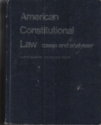 Image for American Constitutional Law:  cases and analyses