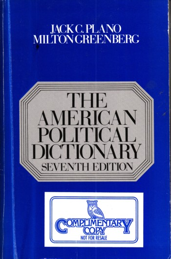 Image for American Political Dictionary 7th edition