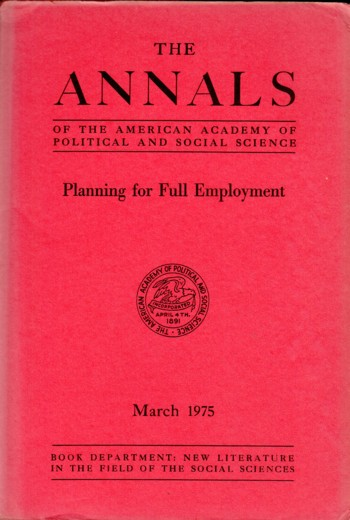 Image for Planning for Full Employment