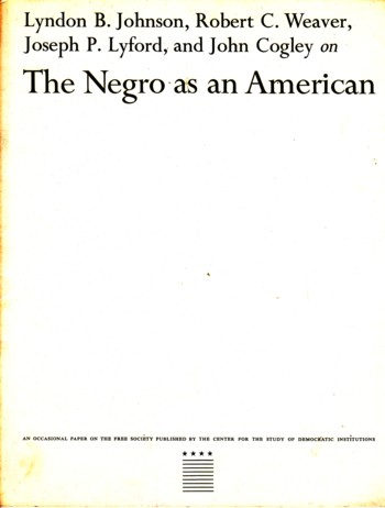 Image for Negro as an American