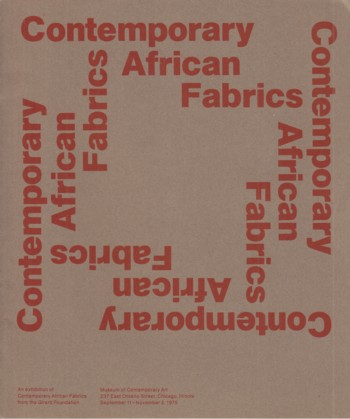 Image for Contemporary African Fabrics