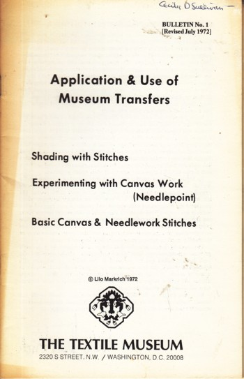 Image for Application & Use of Museum Transfers