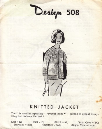 Image for (Design #508) Knitted Jacket