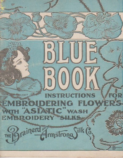 Image for Blue Book: instructions for embroidering flowers with Asiatic wash
