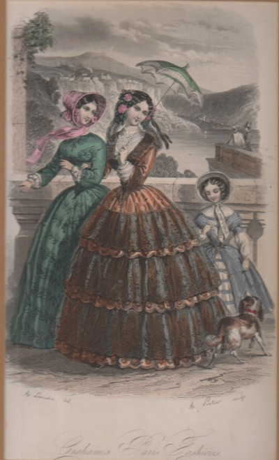 Image for (Broadsides) Graham's Paris Fashion: Hand colored engraving