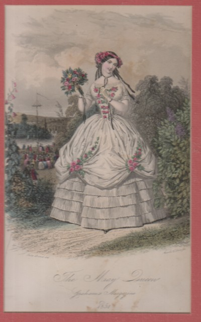 Image for (Broadsides) Graham's Magazine: The May Queen, hand colored engraving