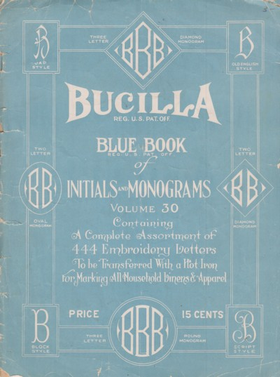 Image for Blue Book of Initials and Monograms:  B.