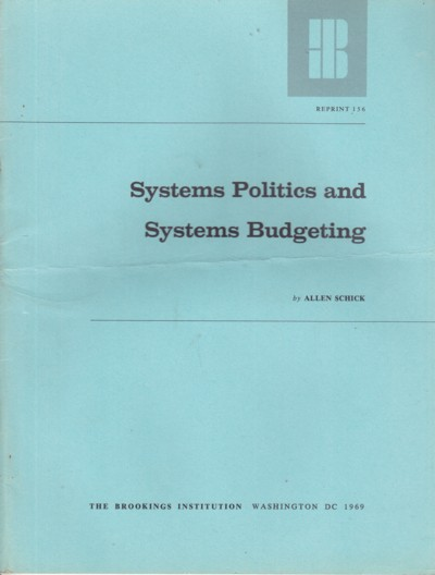 Image for Systems Politics and Systems Budgeting