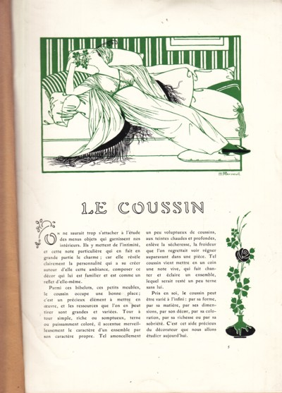 Image for Art and Decoration:  Le Coussin
