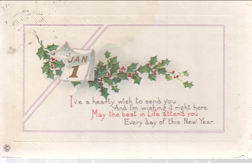 Image for New Year's Post Card